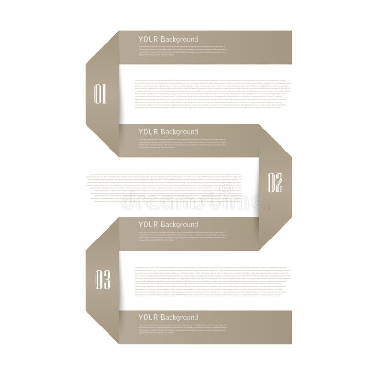 Moderne de optiesbanner van de bedrijfsorigamistijl vector illustratie