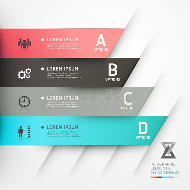 Moderne de optiesbanner van de origamistijl. stock illustratie