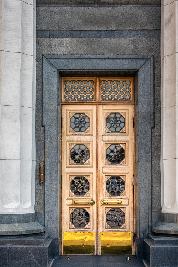Moderne deur Kiev royalty-vrije stock afbeeldingen