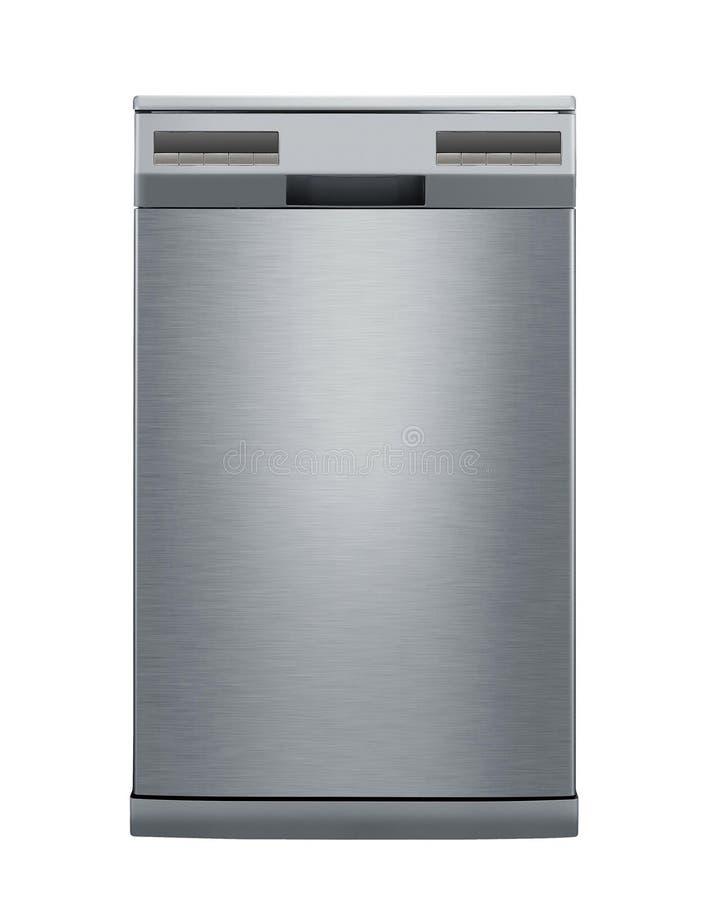 Moderne die afwasmachine op wit wordt geïsoleerd royalty-vrije stock foto's