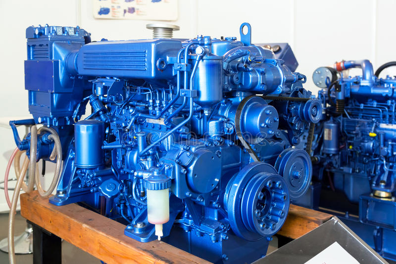 Moderne die dieselmotor op de mariene industrie wordt gebruikt royalty-vrije stock fotografie