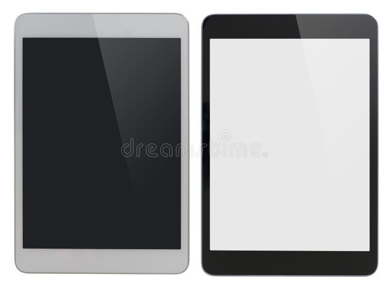 Moderne die tabletpc gelijkend op ipad wordt geïsoleerd met royalty-vrije stock fotografie