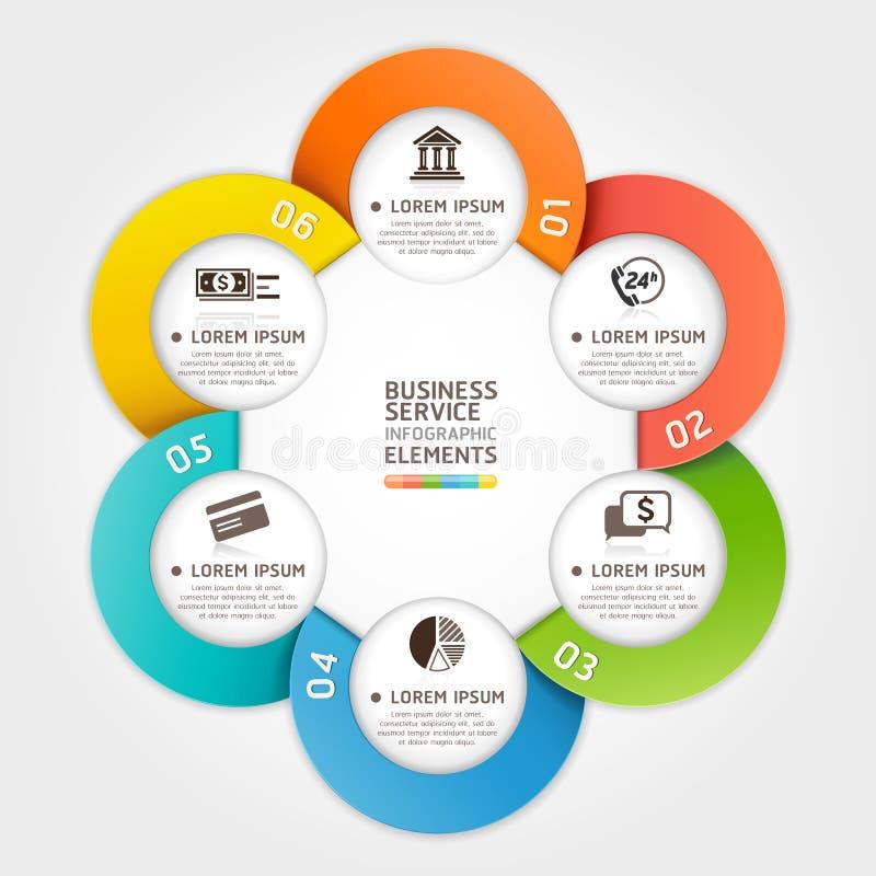 Moderne Dienstleistungs-Kreisorigamiart. lizenzfreie abbildung