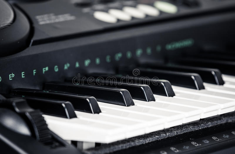 Moderne Digitale piano stock afbeelding