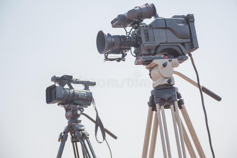 Moderne digitale videocamera's stock foto