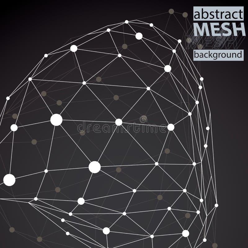 Moderne Digitaltechnikart, abstrakter Hintergrund vektor abbildung