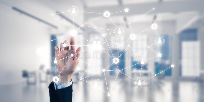 Moderne drahtlose Technologien für Geschäft und Verbindungsleute lizenzfreie stockfotos