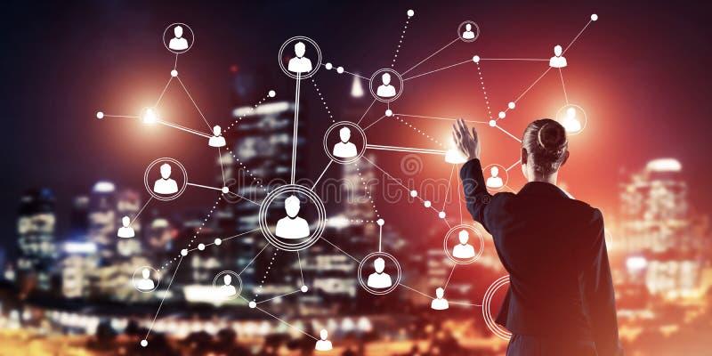 Moderne drahtlose Technologien und Vernetzung als Werkzeug für effectiv stockbild