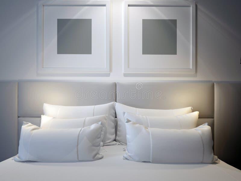 Moderne dubbele slaapkamer stock fotografie