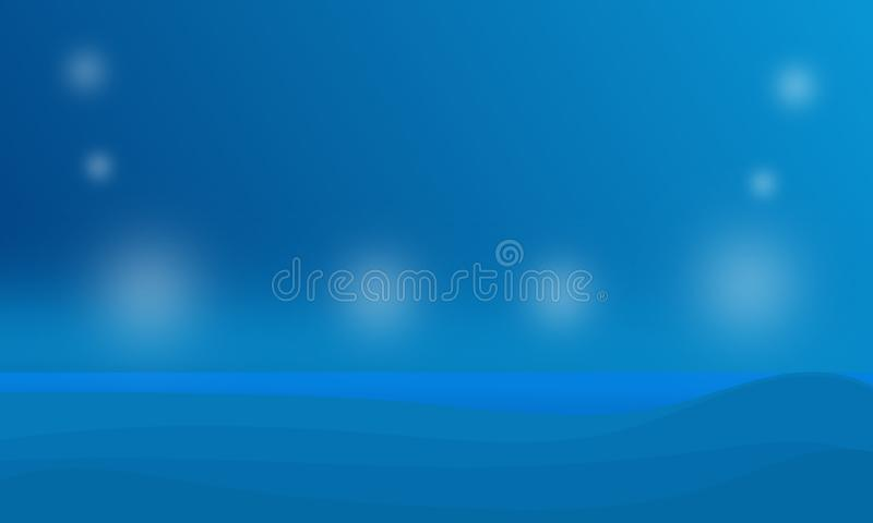Moderne dunkelblaue Linie farbiger Plakathintergrund der Zusammenfassung Auch im corel abgehobenen Betrag lizenzfreie abbildung