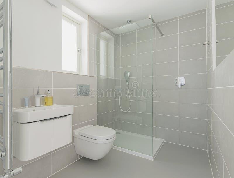 Moderne Duschkabine stockfotos