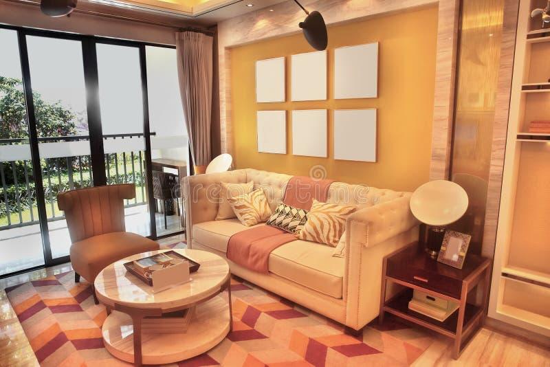 Moderne eenvoud iving ruimte royalty-vrije stock foto