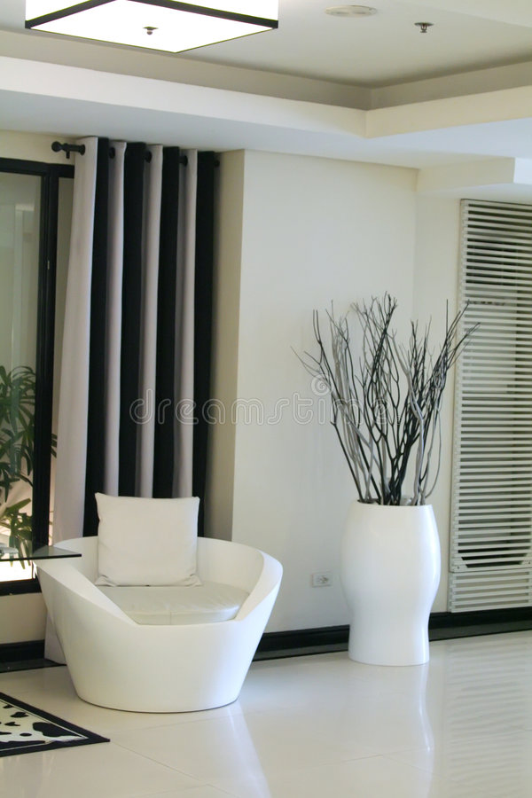 Moderne elegante ruimte stock foto's