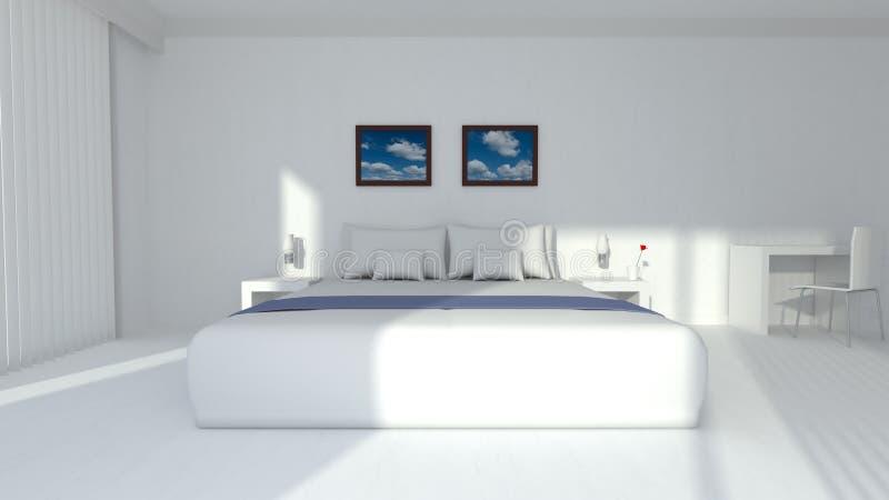 Moderne elegante Wiedergabe des Hotelzimmers 3D vektor abbildung