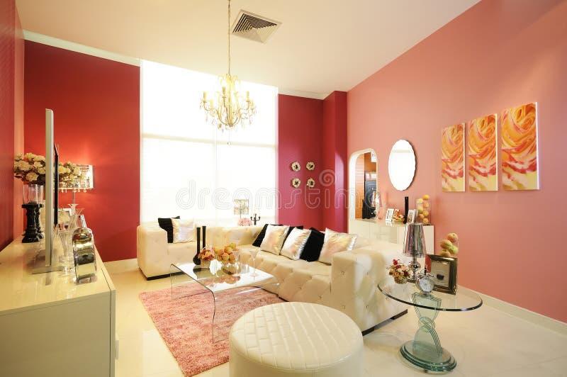 Moderne elegante woonkamer royalty-vrije stock foto