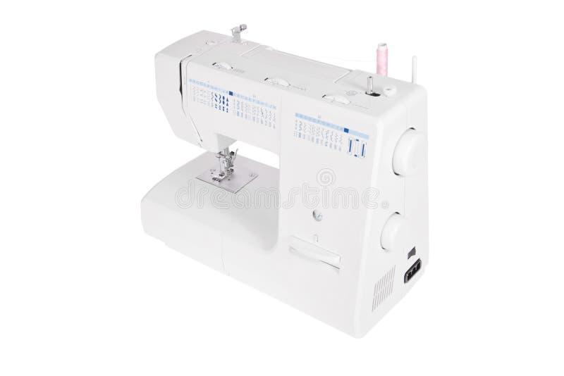 Moderne elektrische naaimachine royalty-vrije stock foto's