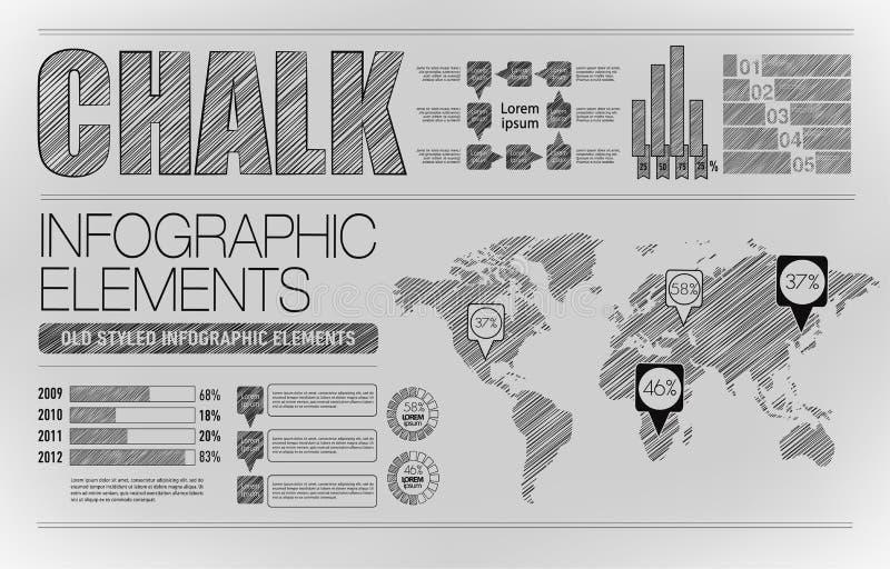 Moderne elementen van informatiegrafiek stock illustratie