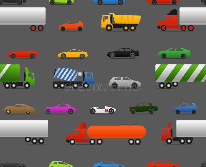 Moderne en uitstekende auto's royalty-vrije illustratie