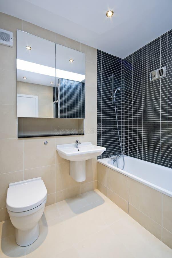 Moderne Engels-reeksbadkamers royalty-vrije stock foto