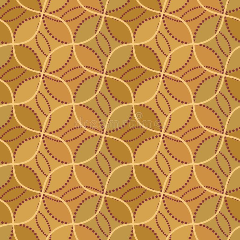 Moderne, ethnisch geometrische, nahtlose Muster Fliesen in Braun- und Beigetönen vektor abbildung
