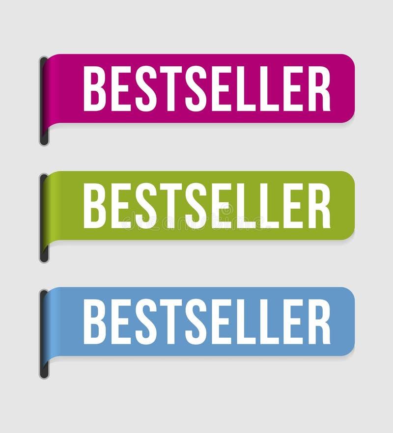 Moderne etiketâ- best-seller vector illustratie