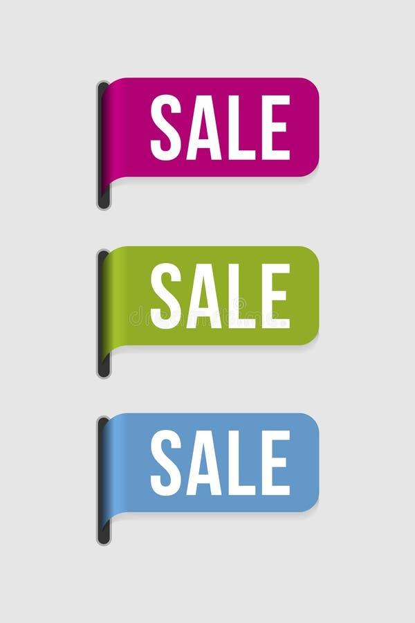 Moderne etiketâ verkoop vector illustratie