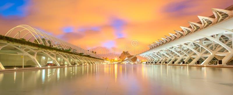 Moderne Europese architectuur, Valencia stock afbeeldingen