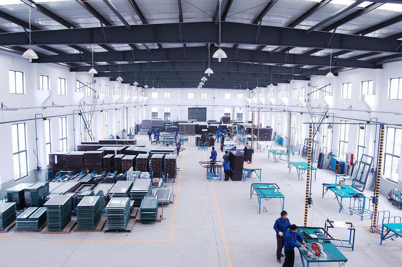 Moderne fabriek royalty-vrije stock foto's