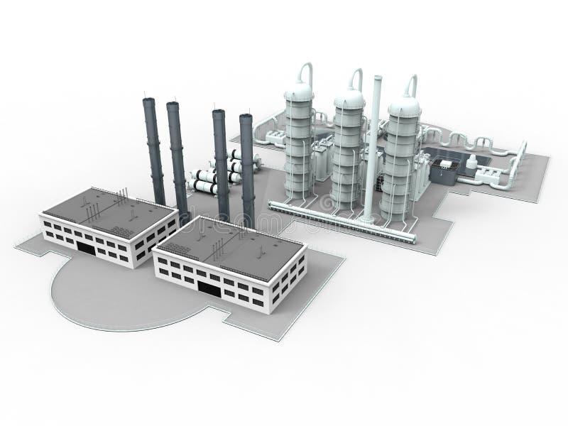 Moderne fabriekslay-out stock illustratie