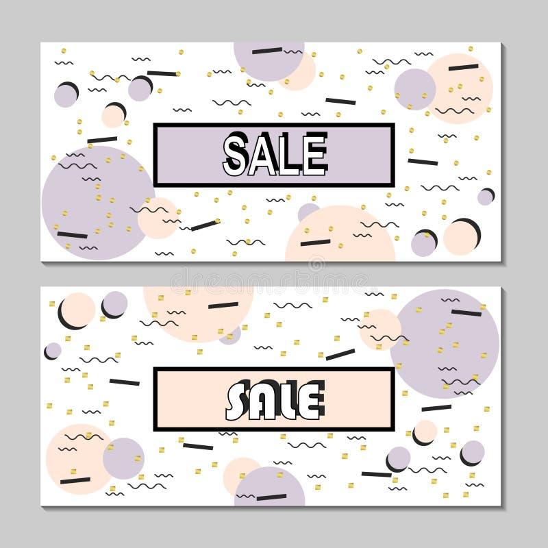 Moderne Fahne Verkaufs-Memphis-Art Schablonen-Verkauf ...