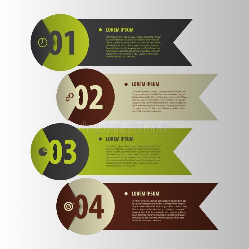 Moderne Fahnen Infographics-Element-Origamiart Vektor lizenzfreie abbildung