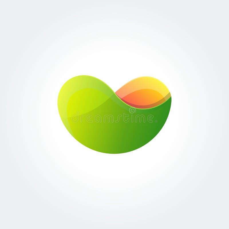 Moderne Farbabstrakte flüssige Form, Halbtonmuster, flüssiger Farbdeckungs-Steigungshintergrund vektor abbildung