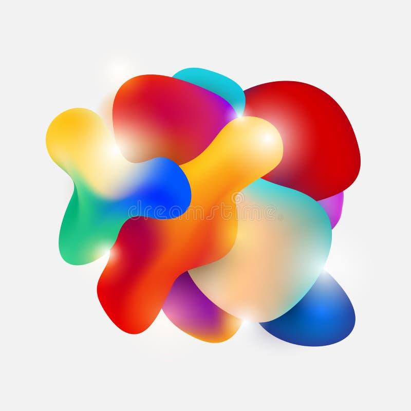 Moderne flüssige grafische Elemente der flüssigen Form der Zusammenfassung Dynamische Form der Steigung Farb Auch im corel abgeho lizenzfreie abbildung