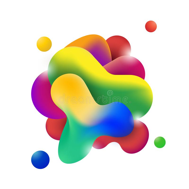 Moderne flüssige grafische Elemente der flüssigen Form der Zusammenfassung Dynamische Form der Steigung Farb Auch im corel abgeho stock abbildung
