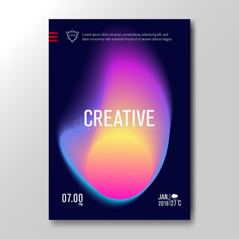 Moderne flüssige unscharfe Steigung mit weichem buntem Hintergrund für Plakat, Einladungs-Karte, Broschüre, Werbung, Plakat, Musi