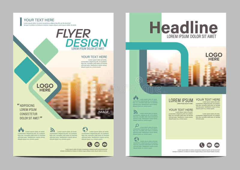 Moderne flache Broschüren-Plandesignschablone Moderner Hintergrund Jahresbericht-Flieger-Broschürenabdeckung Darstellung Illustra vektor abbildung