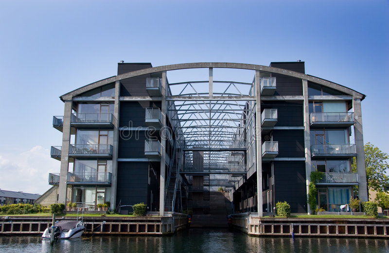 Moderne flat in Kopenhagen royalty-vrije stock foto