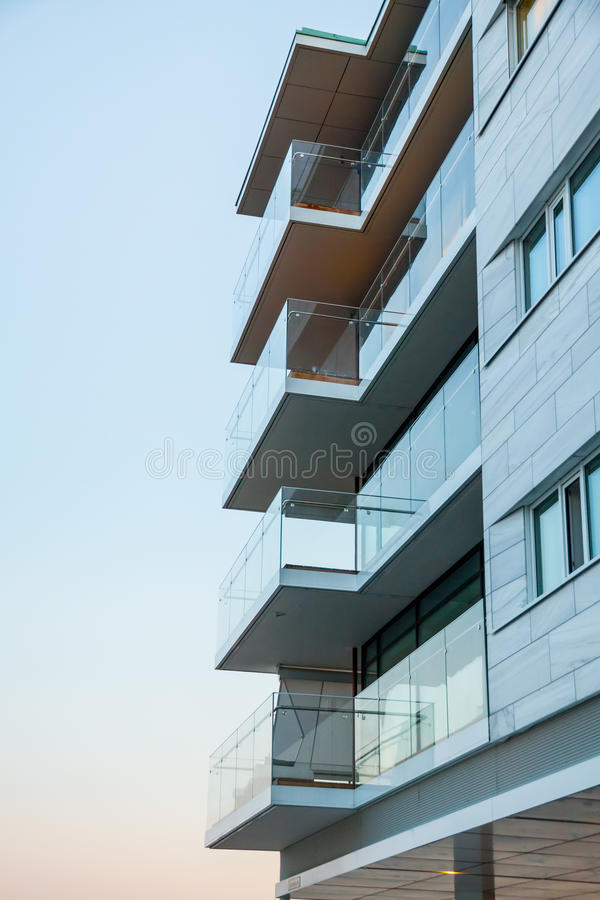 Moderne Flats royalty-vrije stock afbeelding