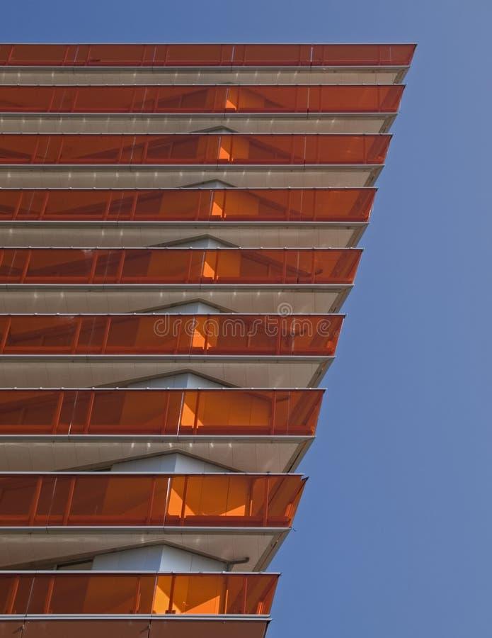 Moderne flats in Almere royalty-vrije stock foto