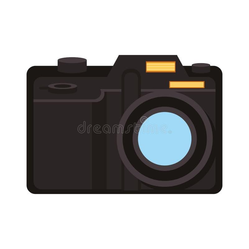 Moderne fotografische camerasymbool geïsoleerde vectorillustratie royalty-vrije illustratie