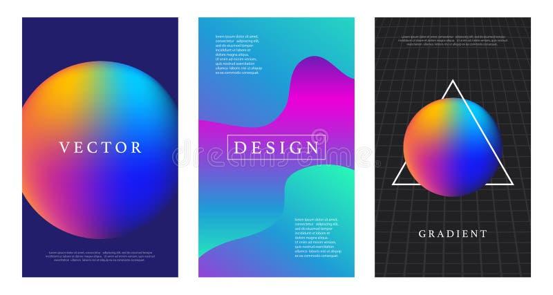 Moderne futuristische abstracte geometrische geplaatste dekking royalty-vrije illustratie