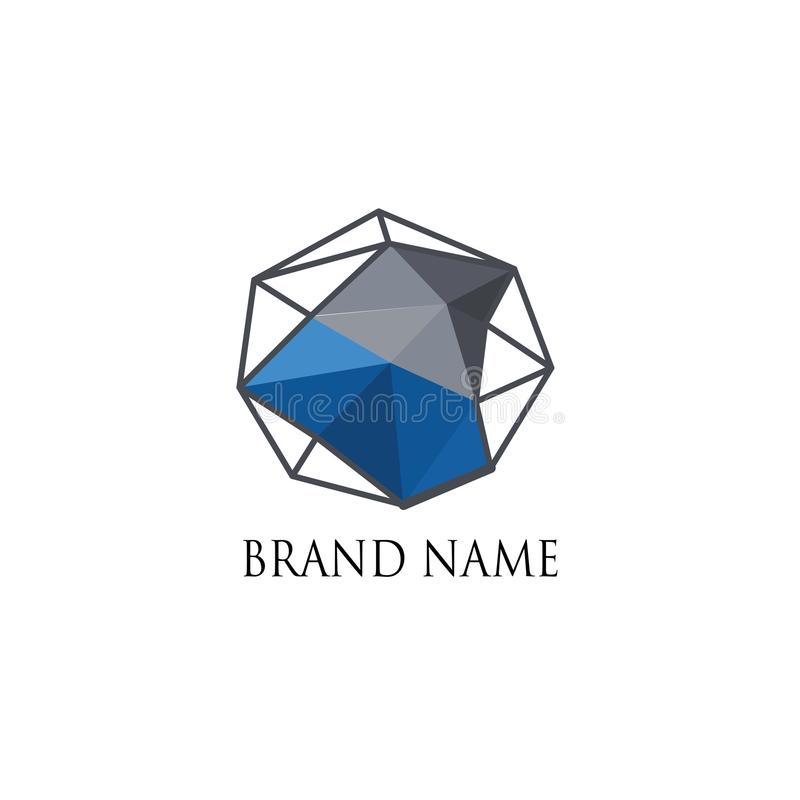 Moderne géométrique d'abstarac de logo photographie stock