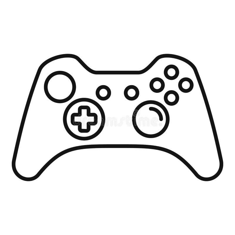 Moderne gamepad Ikone, Entwurfsart stock abbildung