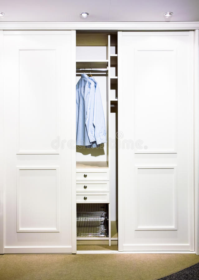 Garderobe stock fotografie