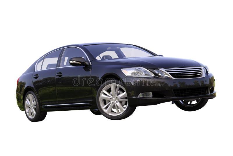 Moderne geïsoleerde luxeauto stock foto