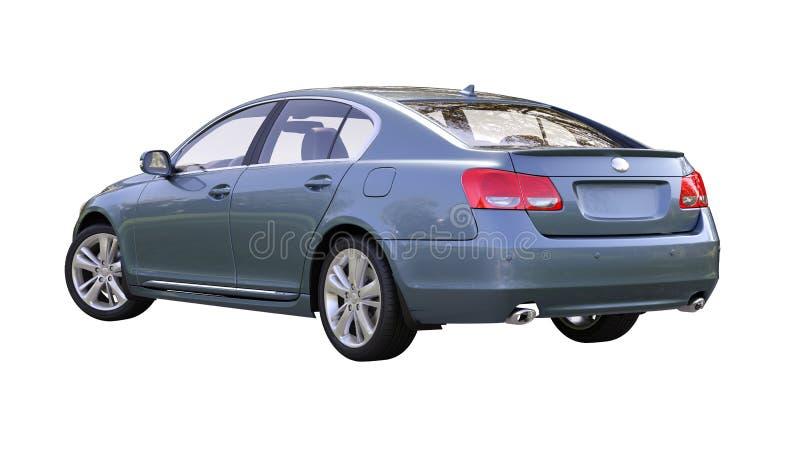 Moderne geïsoleerde luxeauto stock afbeeldingen