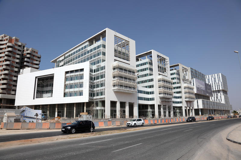Moderne Gebäude in Casablanca stockfotos