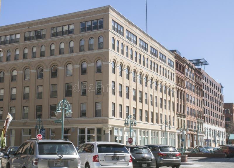 Moderne Gebäude in der Stadt von Milwaukee, ein Geschäftsgebiet stockfoto
