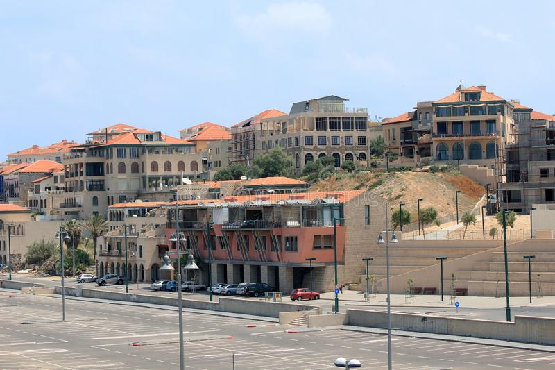 Moderne Gebäude im Jaffa-Bezirk, Tel Aviv, Israel lizenzfreie stockfotografie