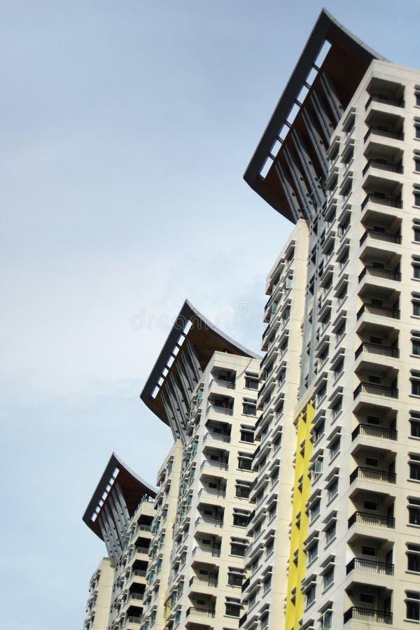 Moderne Gebäude-Kondominien lizenzfreie stockbilder